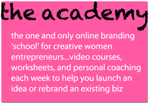 First and only DIY online branding builder 'school' for creative women entrepreneurs.