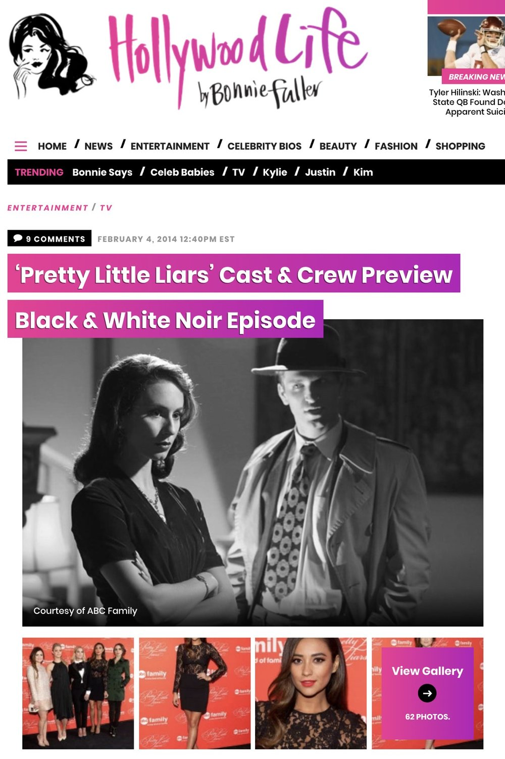 Hollywood Life  -  'Pretty Little Liars' Cast & Crew Preview Black & White Noir Episode