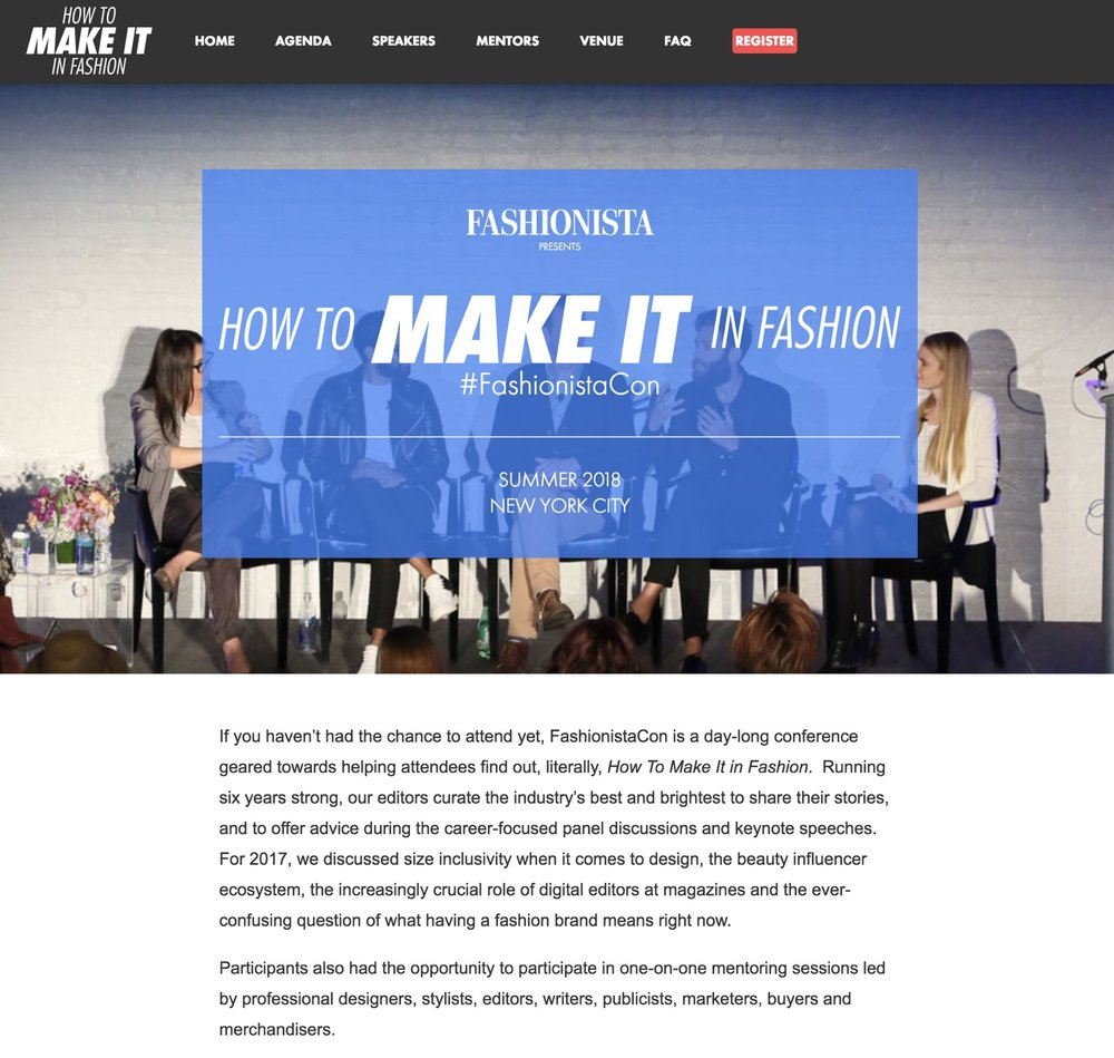 Fashionista  -  How to Make it in Fashion