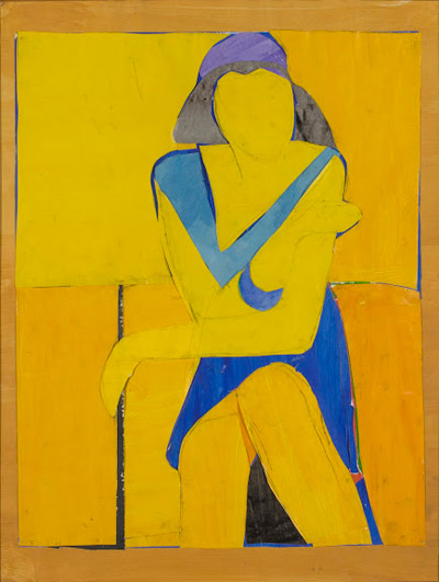 Untitled (Yellow Collage) 1966   Richard Diebenkorn