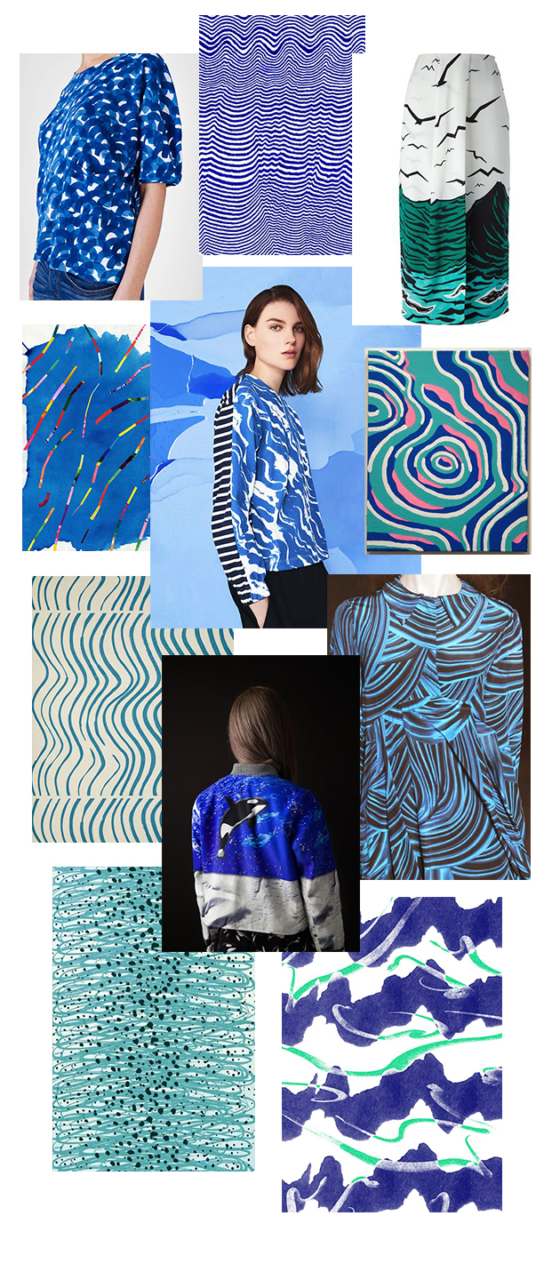 Clockwise from Upper left: Mina Perhonen, Caitlin Foster, Missoni,  Sean Montgomery, House of Holland, M Velho, Birgitta Hahn, Marimekko Sikkikuikka, Pat Bradbury, Petit Bateau Satu Maaranen, Andre Herrero/Richards
