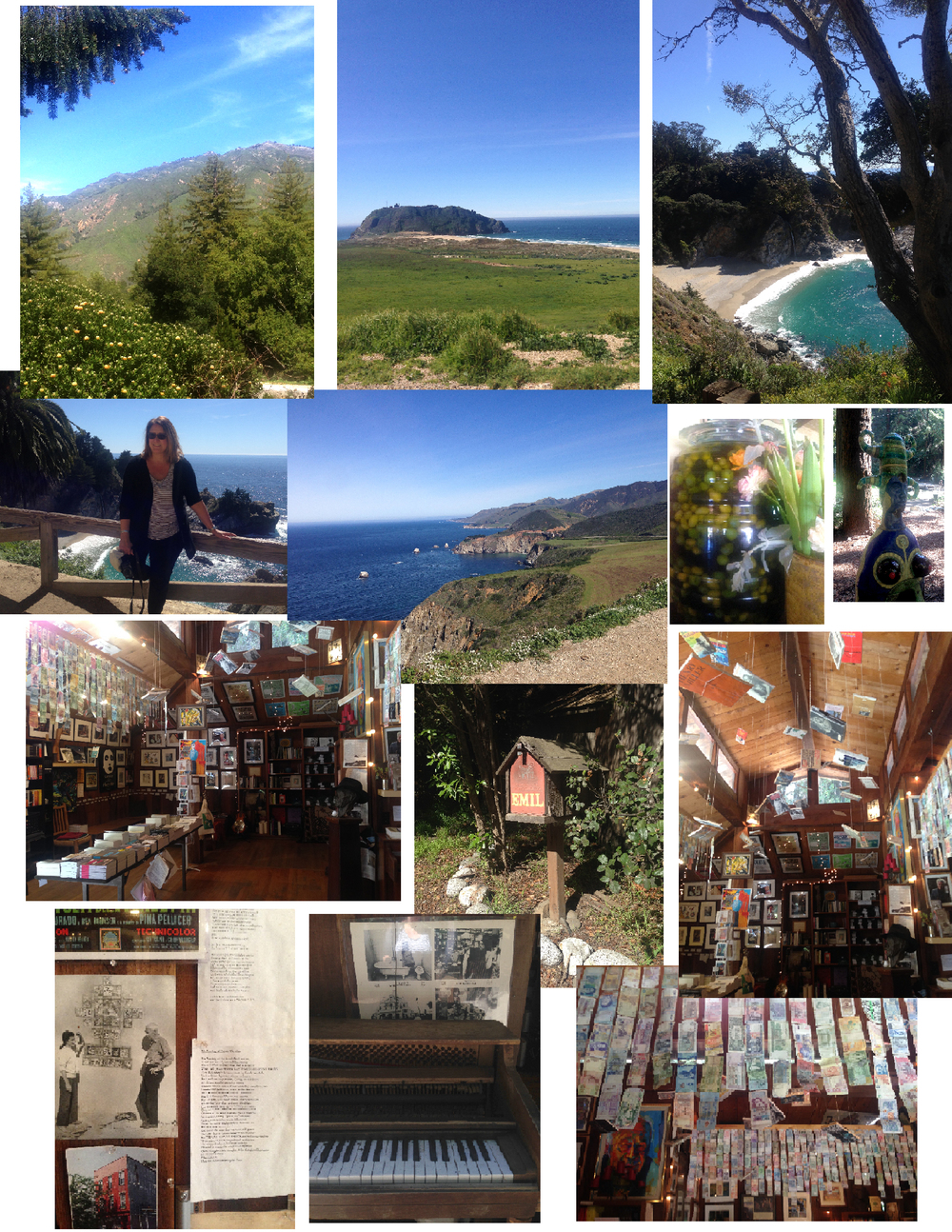 Big Sur Bakery, Henry Miller Memorial Library, McWay Falls - Big Sur
