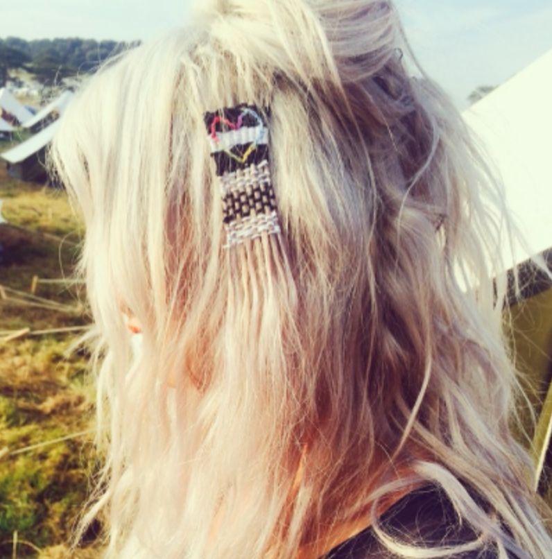 Lou Teasdale hair weaving on Instagram