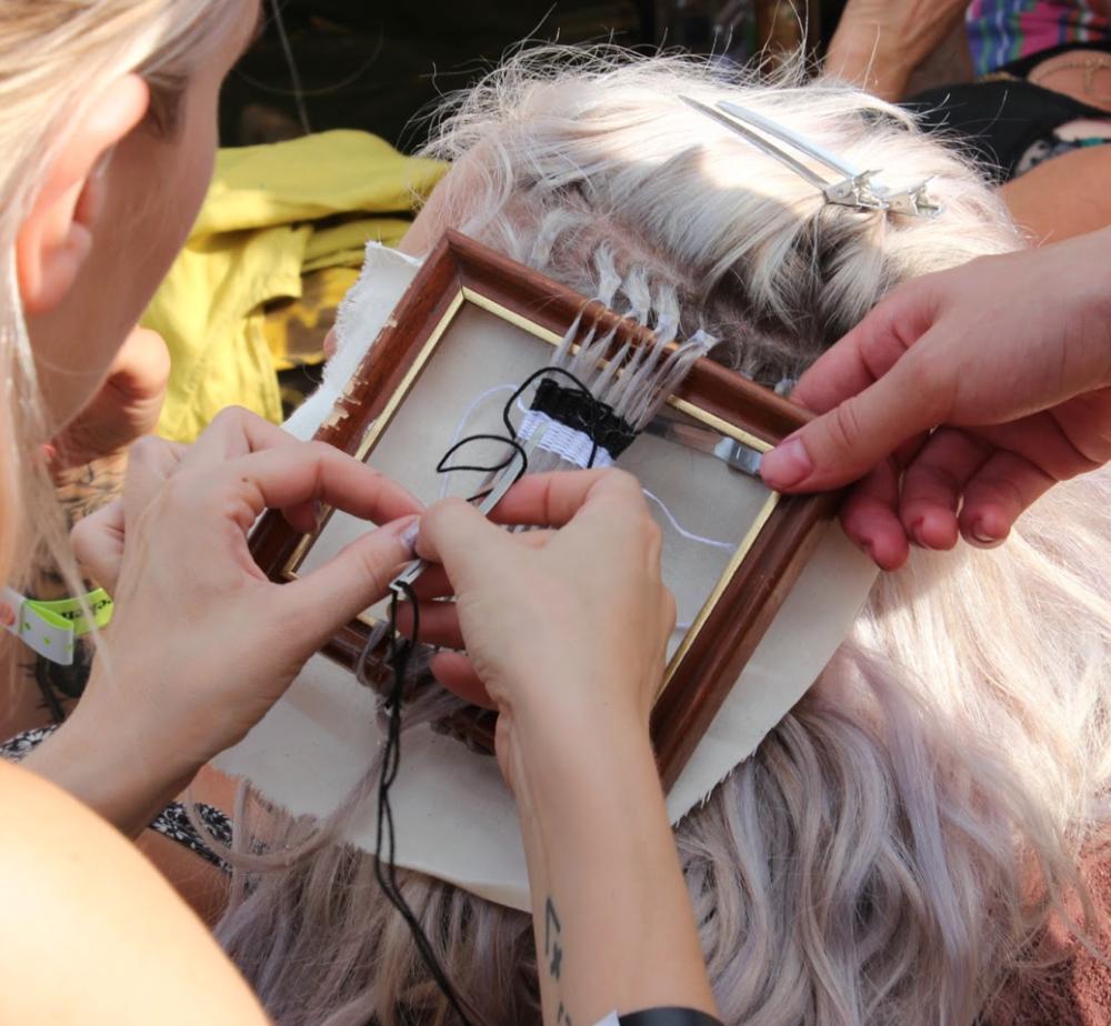 Lou Teasdale hair weaving
