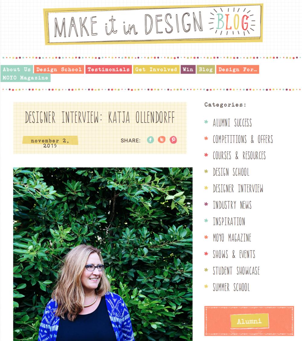 Katja Ollendorff MIID Blog