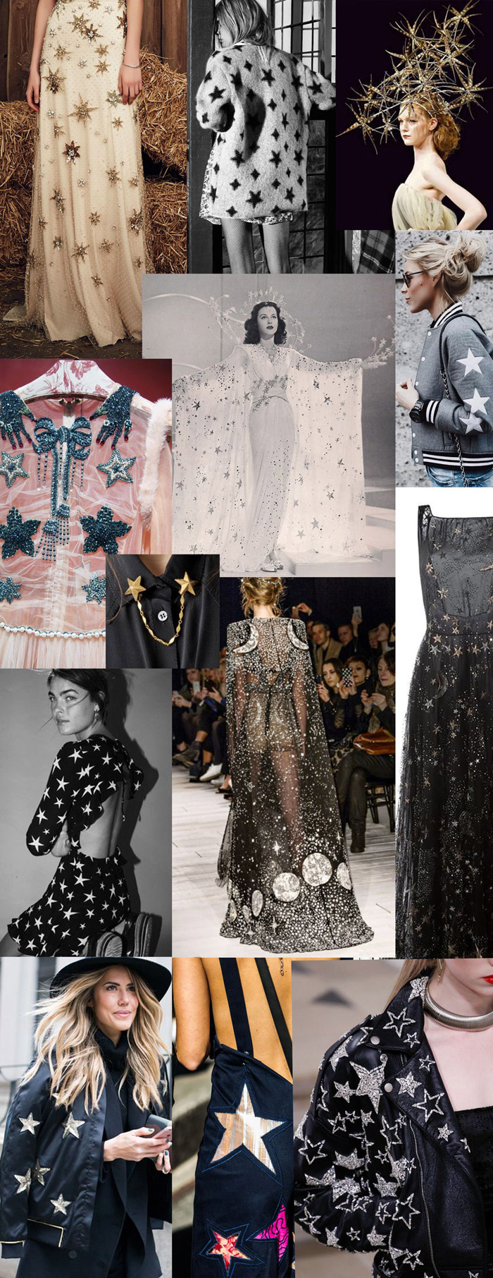 From top left: Jenny Packham, Saint Laurent, Richard Nylon, Street style bomber, Valentino, Saint Laurent, Sydney Fashion Week, Street style, Realisation dress, Gucci, Hedy Lamar in Zeigfield Girl, McQueen