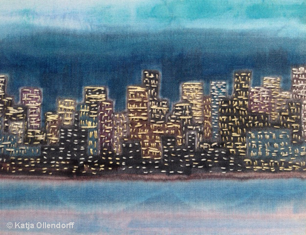 © Katja Ollendorff embroidered Cityscape