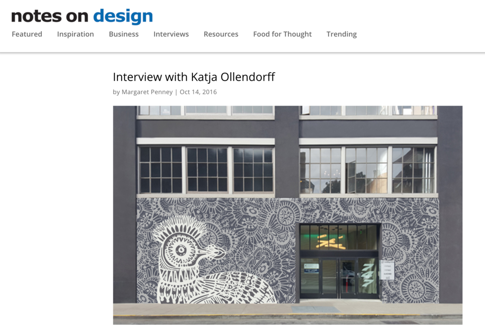 Katja Ollendorff Interview - Notes on Design Sessions