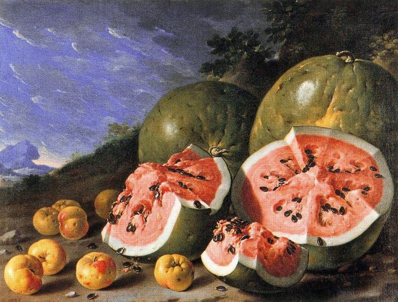 790px-Luis_Melendez,_Still_Life_with_Watermelons_and_Apples,_Museo_del_Prado,_Madird.jpg