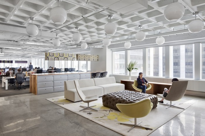 Shared space - BBC offices New York.  Retail Design Blog