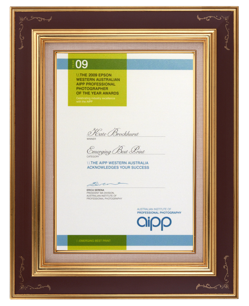 "2009 - AIPP West Australian ""Emerging Best Print"""