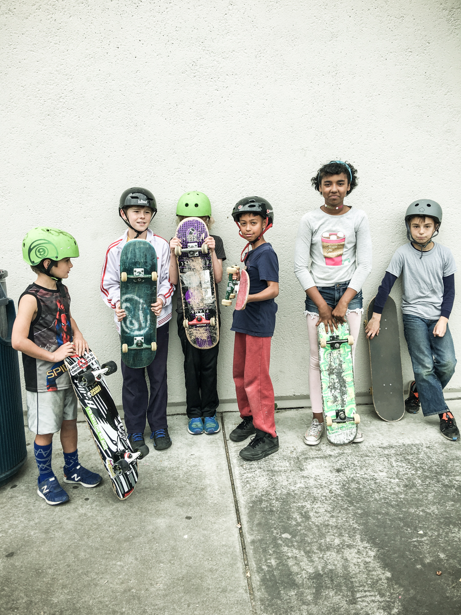 Skateboard Posse ©2018 Lisa Berman