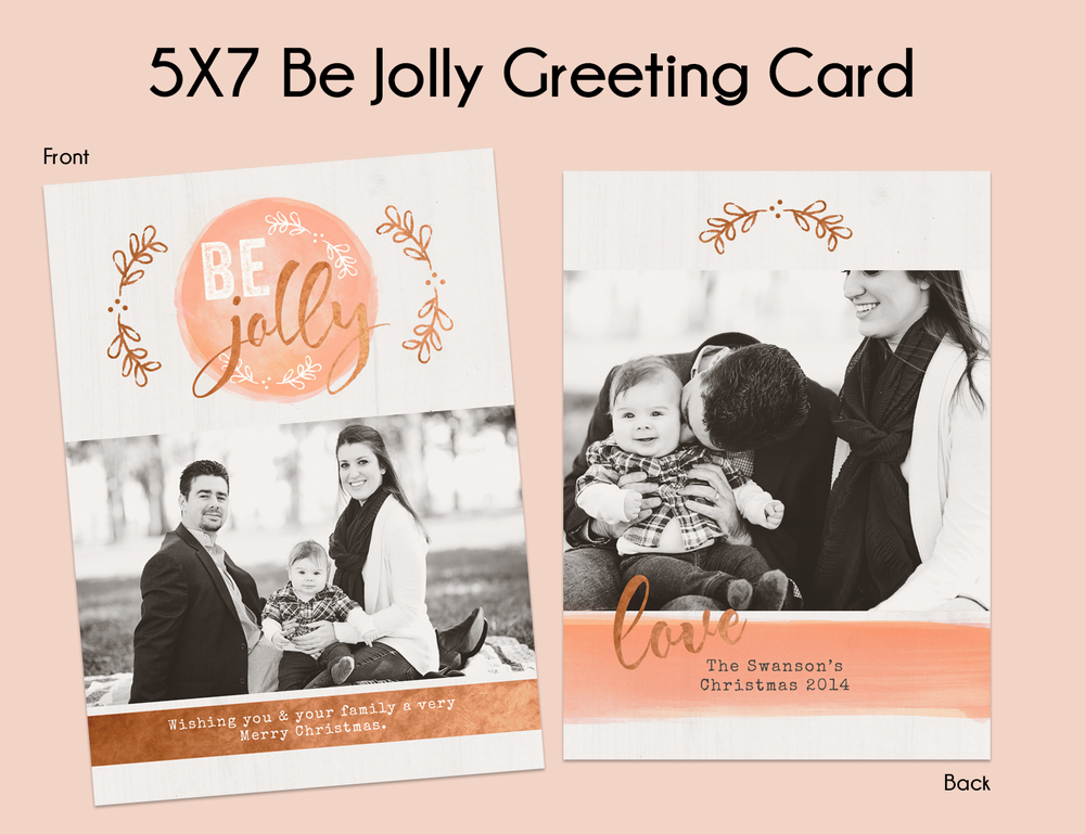 Option #2: 5x7 Be Jolly Greeting Card