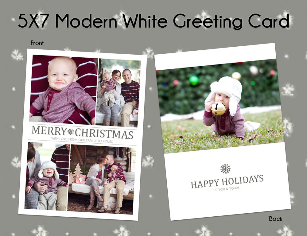 Option #3: 5x7 Modern White Greeting Card