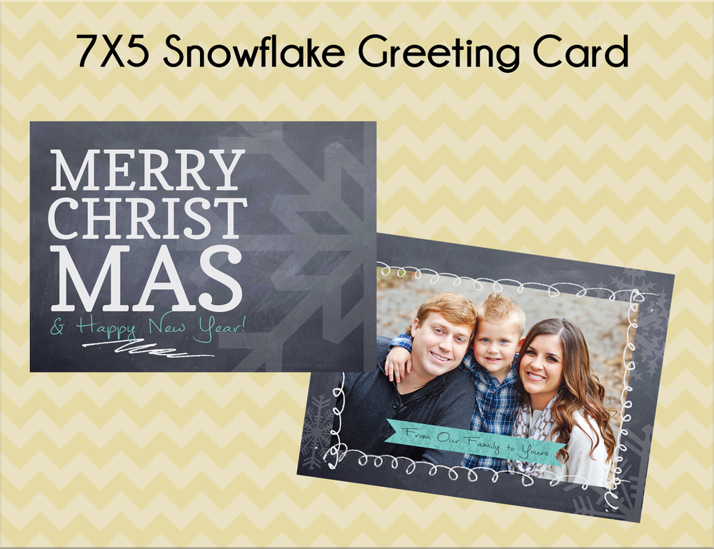 Option #4: 7x5 Snowflake Greeting Card