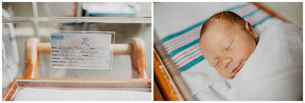Annapolis, Maryland newborn photography fresh 48 hospital photography
