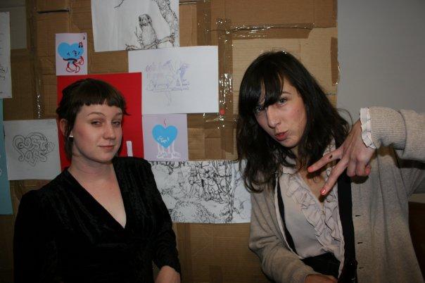 Curator Jo Galvin and Artist Erin Forsyth