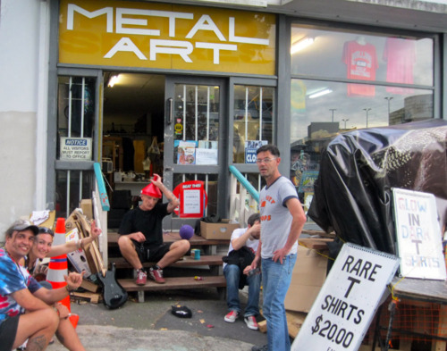Metal Artspace, neighbours to Method and Manners Studio on Upper Queen St in Auckland, was transformed into a temporary gallery for EYESORE
