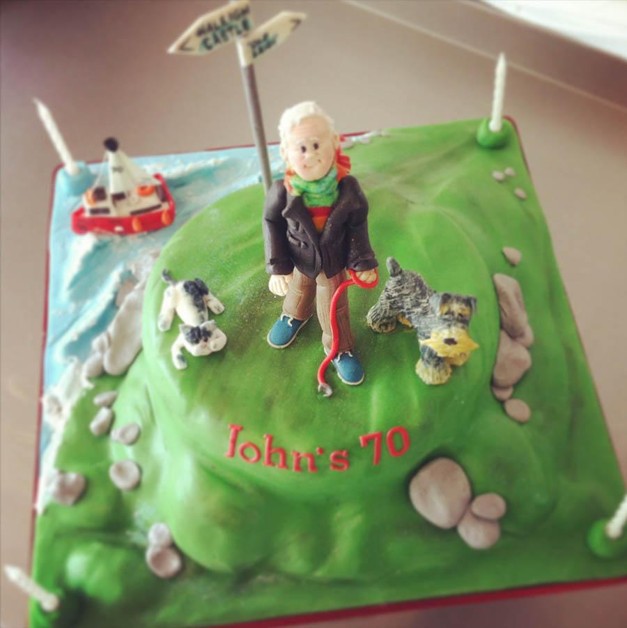 Dog Walker Scene Cake