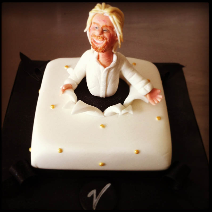 Richard Branson Kensington Roof Garden Cake