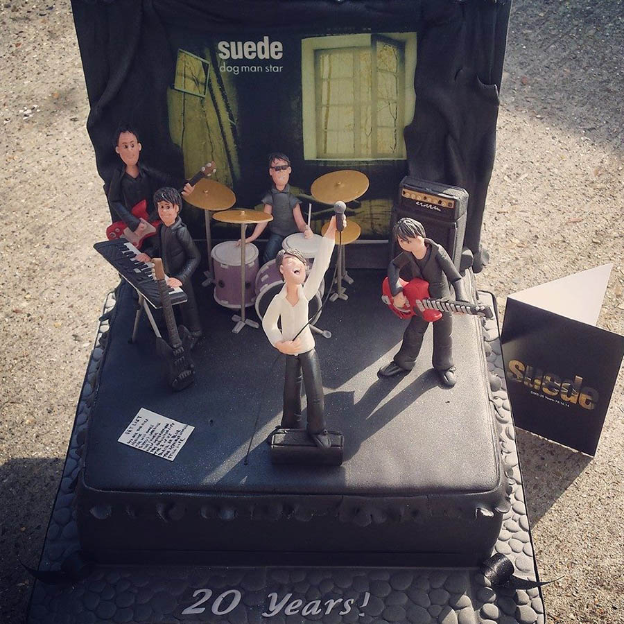 Suede 20th Anniversary Dog Man Star Cake