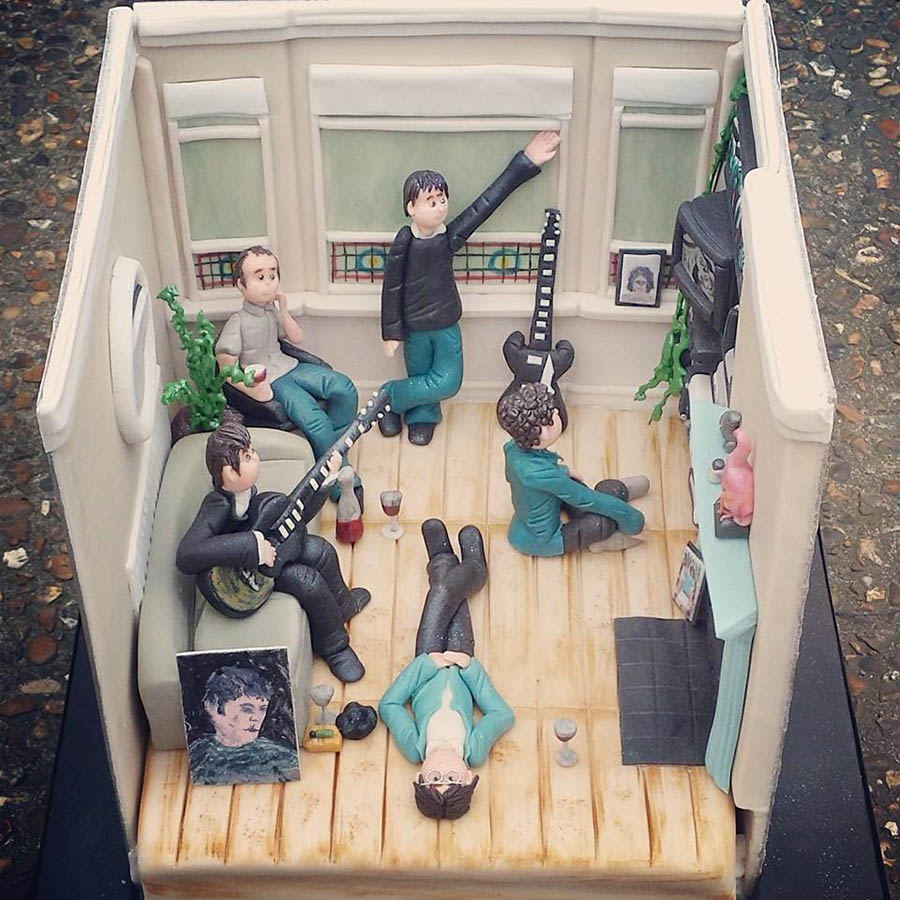 Oasis Definitely Maybe 20th Anniversary Cake