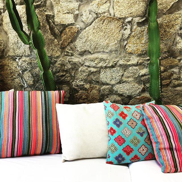 Textures. #hippiefishmykonos #restaurant #mykonos #island #greece #details #instadaily #cactus #pillows #cute #colours #inspiration #interiordesign #travel #travelphotography #ianaluxurytravel