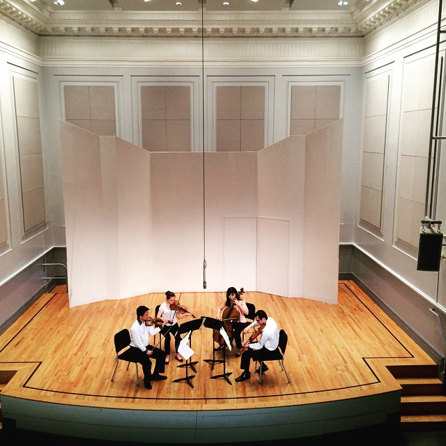 Fort Lee School of Music Violin instructor Liz Wright performing with her string quartet luminaria