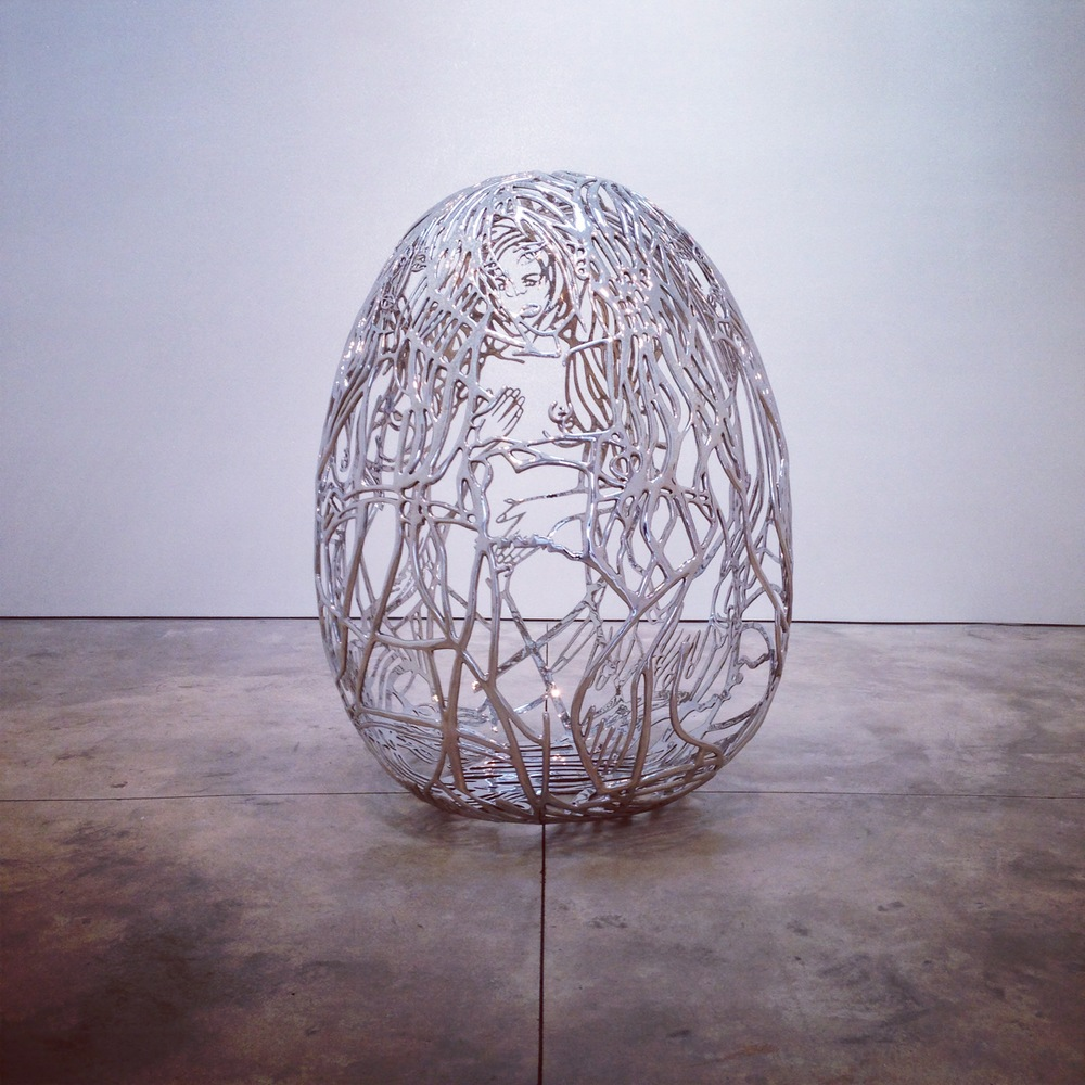 HOWEHAUS - Happy Easter - Ghada Amer Sculpture.JPG