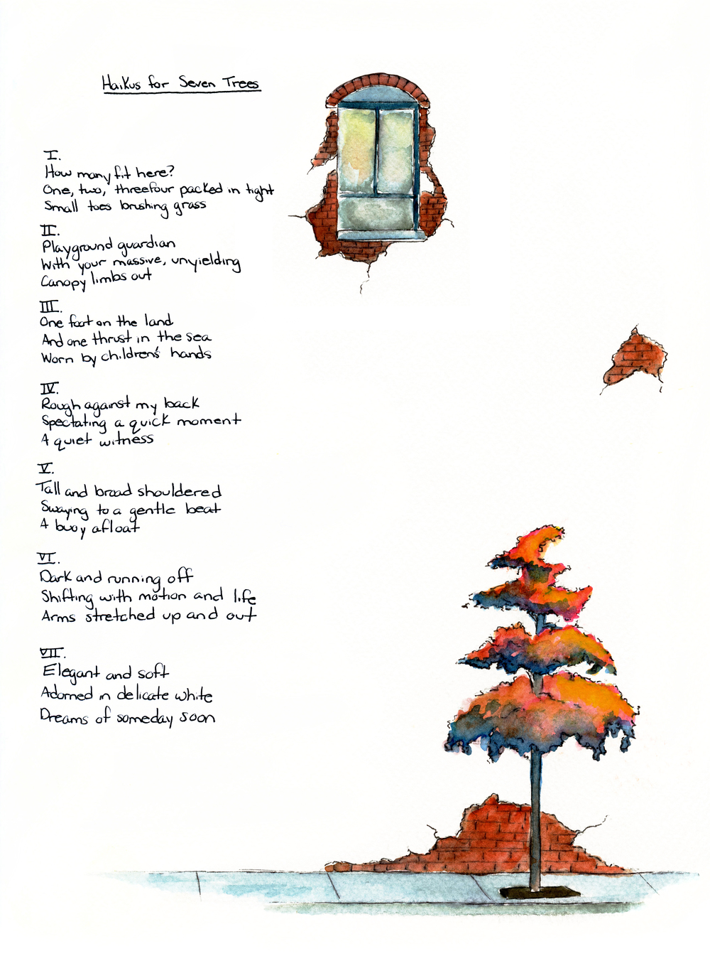 Watercolor, poetry by Sarah Ash