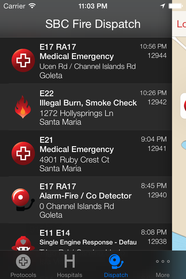 Incident Log keeps track of every call for review of recent incidents or the previous shift
