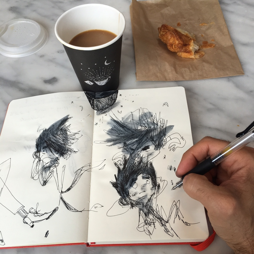 Morning sketch at  The Mill SF