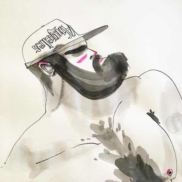 #dibujo para @disnapback.official he makes badass hats 🧢✨#pecs #fur