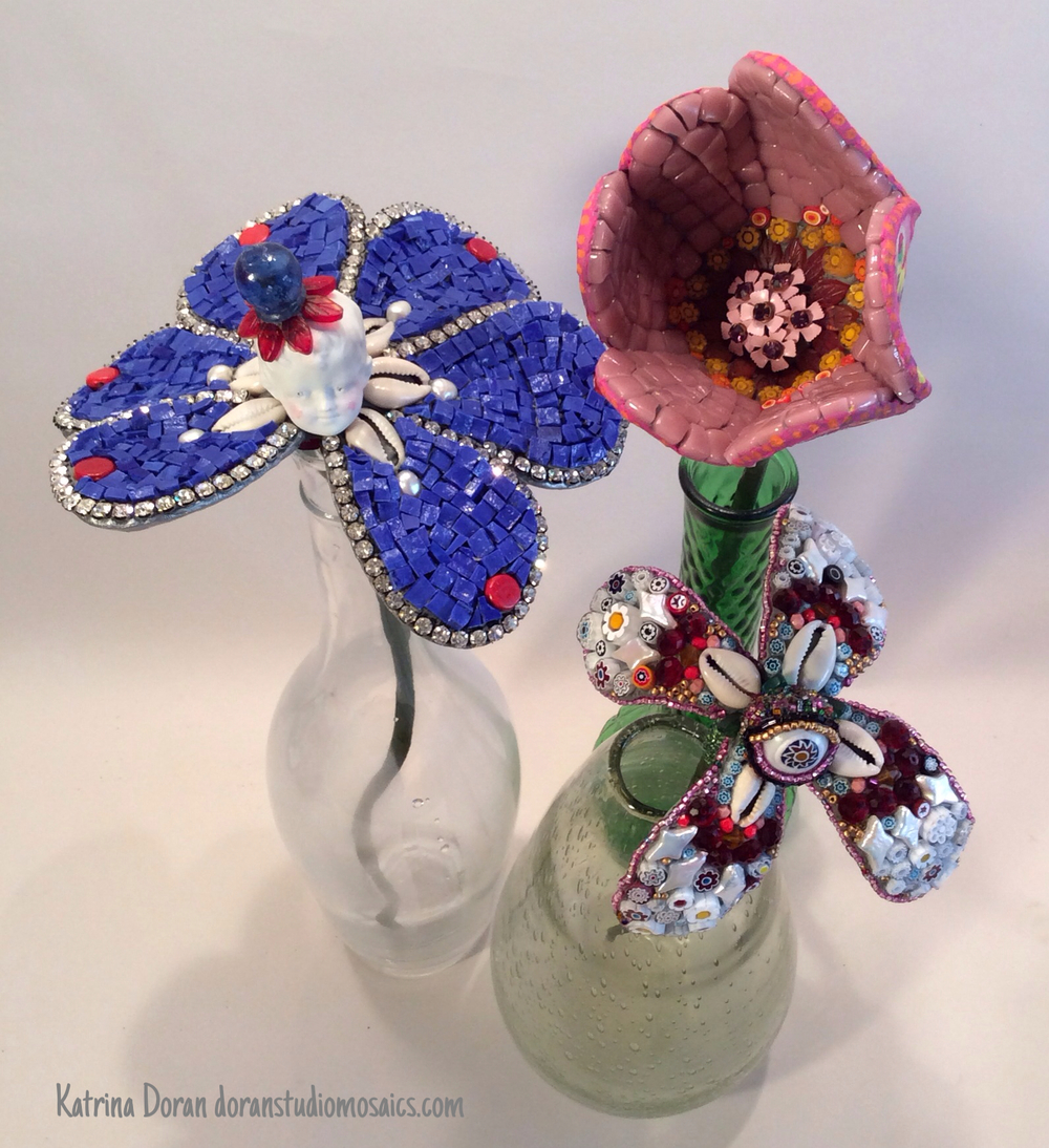 Petite Fleurs - Bejeweled Mosaic Flower Workshop with Katrina Doran