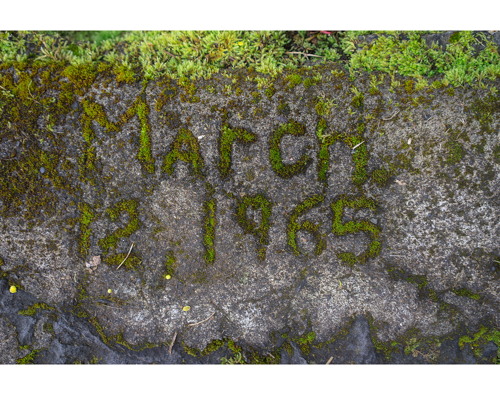 march 12, 1965 etched into the concrete.