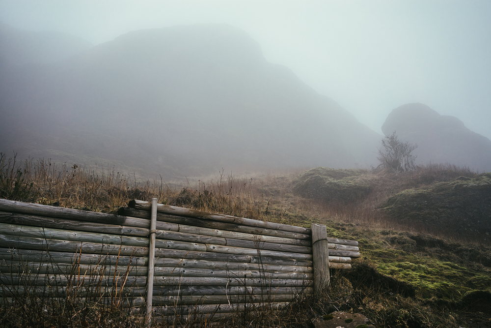 The fog started to get pretty thick as we got closer to the top.