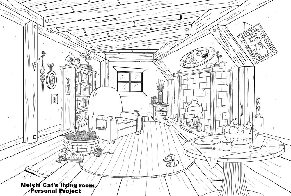 Melvins_livingroom_B&W_Dee.jpg