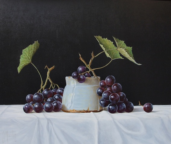 """Muscat Grapes"" Original Acrylic on Board"