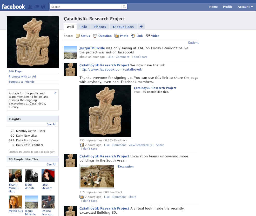 Çatalhöyük on Facebook