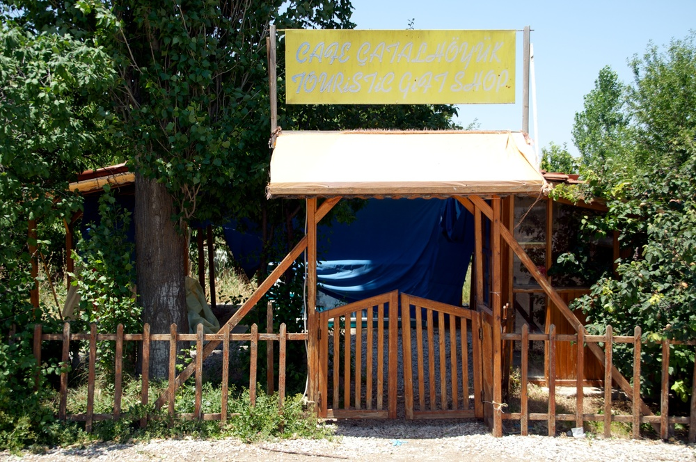 Cafe Çatalhöyük, out of service for now, awaits a new opening soon. So hopes a large team that will be in desperate need of ice cream, soda, and crisps (aka chips) to get them through the season.
