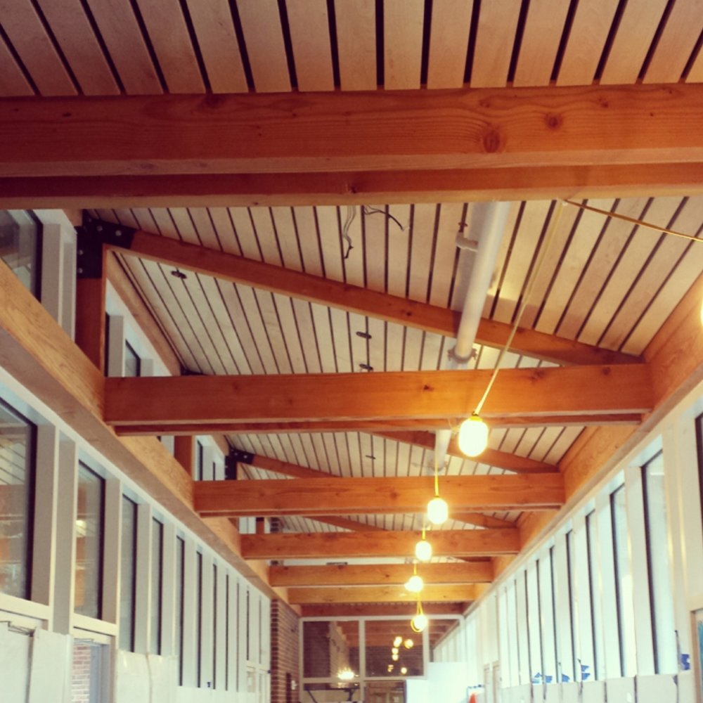 Wood Ceilings -- Hardwood doesn't just have to go on the floors. With the help ofRulon International, Ozburn-Hessey can make all your ceiling installation dreams come true, with hardwood ceiling tiles. TakeVanderbilt University's Kissam Hallfor example.