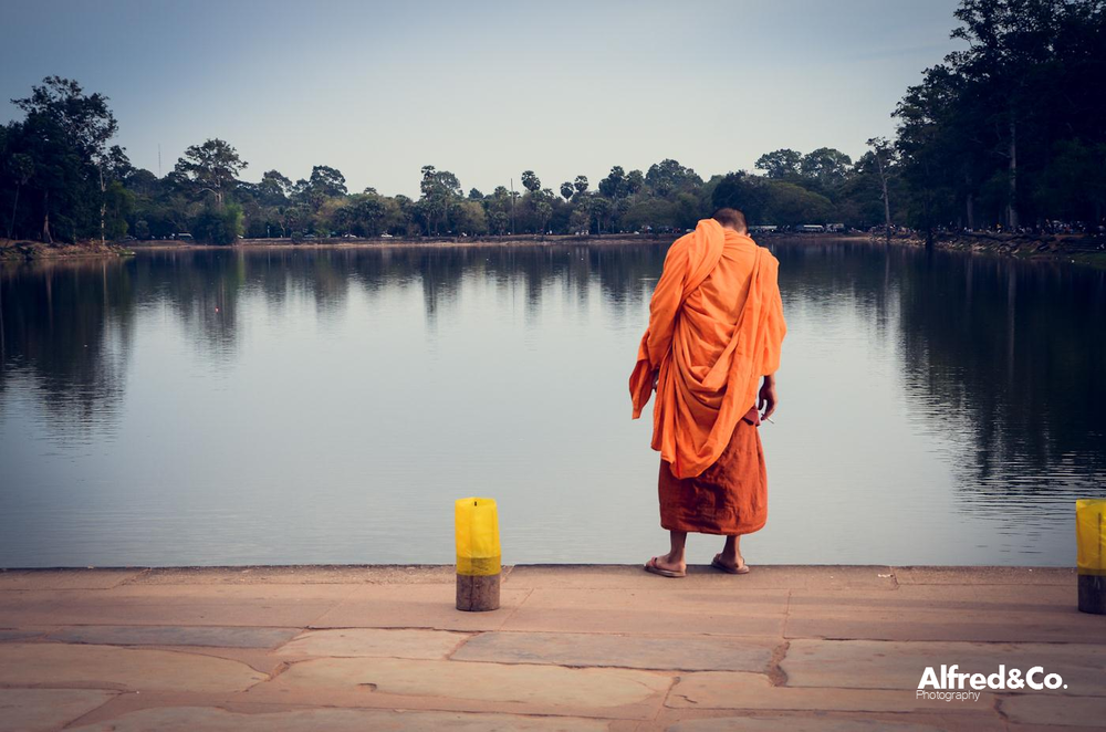 Buddhist Monk - Angkor Wat, Siem Reap, Cambodia. Alfredandcophotography.co.uk