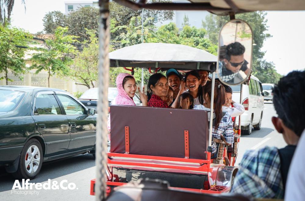 Fun in a Tuk Tuk, Phnom Penh, Cambodia. Alfredandcophotography.co.uk