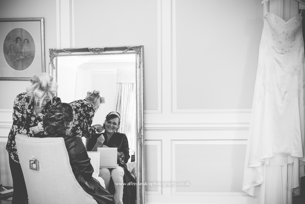 bridal preperations at tissington hall