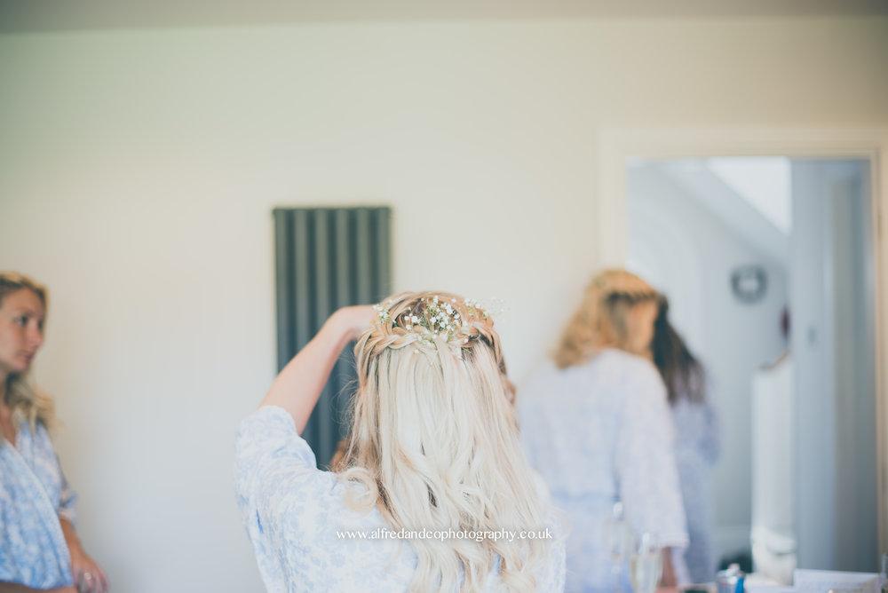 Bridal preperations before wedding in Harrogate