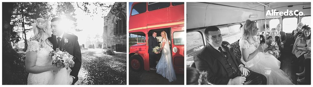 lancashire heritage red wedding bus