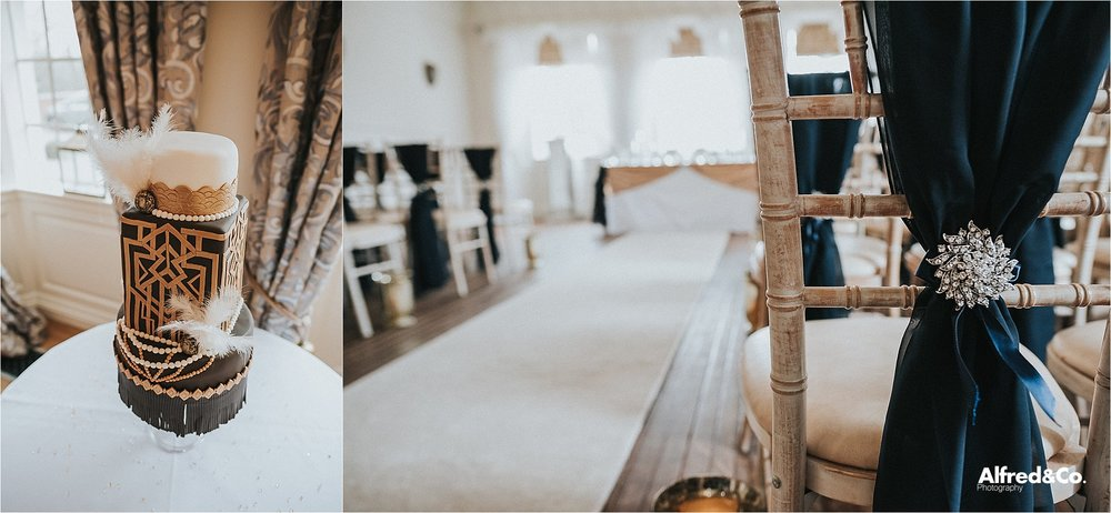 beautiful gold themed wedding at eaves hall