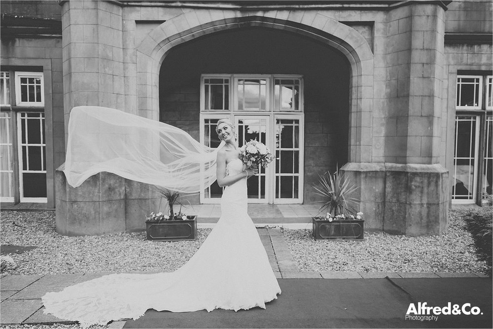Bride at Dunkenalgh Wedding