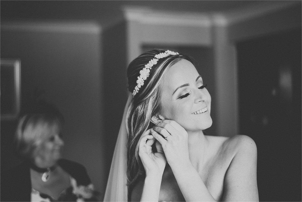 happy bride before wedding