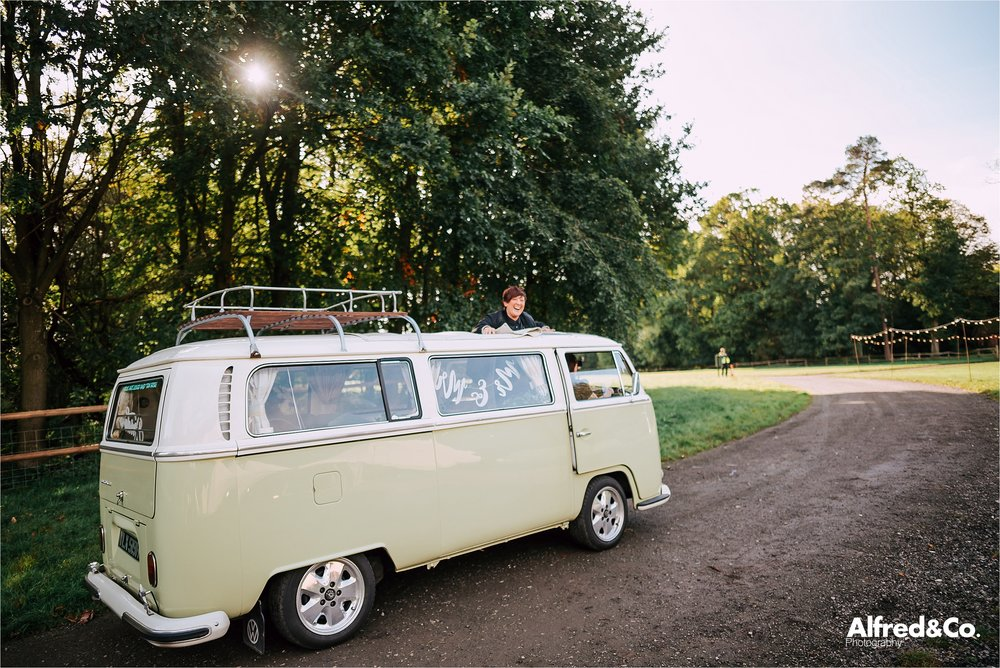 vw camper van - wedding transportation